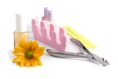 Pedicure beauty set Stock Image