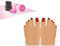 Pedicure, cdr wektor Fotografia Royalty Free