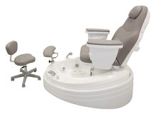 Pedicure chair Stock Images