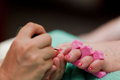 Pedicure close up Royalty Free Stock Image