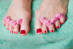Pedicure close up Stock Photography
