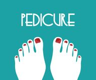 Pedicure concept. Vector illustration of the Pedicure concept vector illustration