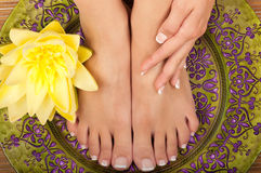 Pedicure en Manicure Spa stock fotografie