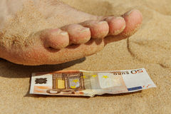 Pedicure for fifty euro. Stock Photography