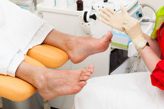Pedicure foot. In a modern beauty salon Royalty Free Stock Image
