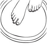Pedicure, foot care Stock Photos