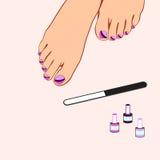 Pedicure, foot care Stock Photo