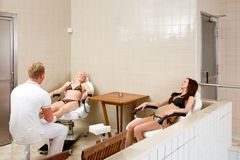 Pedicure and Foot Massage Stock Image