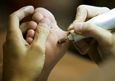Pedicure foot treatment Royalty Free Stock Images