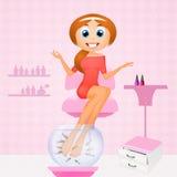 Pedicure with garra rufa Royalty Free Stock Photo