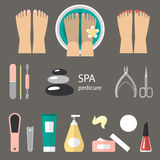 Pedicure icons Royalty Free Stock Image