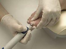 Pedicure In Process Stock Photo