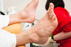 Pedicure male feet Royalty Free Stock Photo