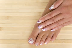 Pedicure - Manicure Royalty Free Stock Photography