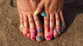 Pedicure and manicure Royalty Free Stock Images
