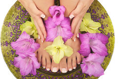 Pedicure and Manicure Spa Stock Photo