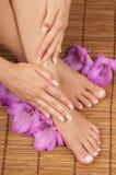 Pedicure Manicure Spa stock photography