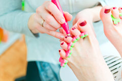 Pedicure in process Royalty Free Stock Photography