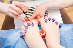 Pedicure in process Royalty Free Stock Photos