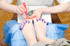 Pedicure in process Stock Image
