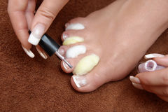 Pedicure set up Stock Images