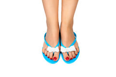 Pedicure&Slippers-1 Royalty Free Stock Photography