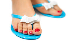 Pedicure&Slippers-3 Stock Images