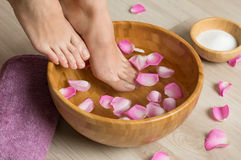 Pedicure at spa center Stock Images
