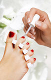 Pedicure in the spa salon Royalty Free Stock Photos