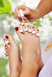 Pedicure in the spa salon Stock Photo