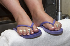 Pedicure station Royalty Free Stock Photography