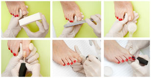 Pedicure treatment Royalty Free Stock Photo