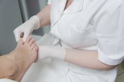 Pedicure treatment Stock Photos