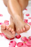 Pedicure und Wellneßthema Stockbild