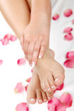 Pedicure und Wellneßthema Lizenzfreie Stockfotos