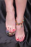 pedicure Vrouwelijke voeten close-up Royalty-vrije Stock Fotografie