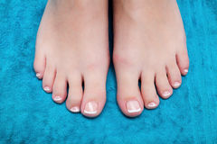 pedicure Vrouwelijke voeten close-up Stock Fotografie