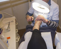Pedicure at work Royalty Free Stock Image