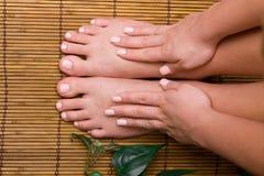 pedicured ноги стоковые изображения rf