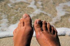 Pedicured Füße Stockfotos