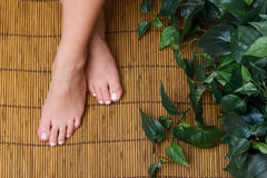Pedicured feet Stock Photos