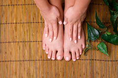Pedicured feet Royalty Free Stock Photography