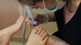 Pedicures in de salon stock videobeelden