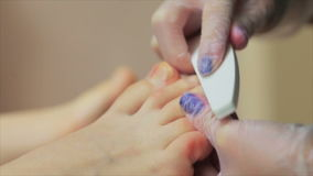 Pedicures in de salon stock video