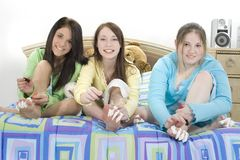 Pedicures at Slumber Party Royalty Free Stock Images