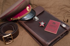 Pedido da estrela vermelha Dia da vitória Imagem de Stock Royalty Free