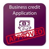Pedido de crédito do negócio aprovado imagens de stock