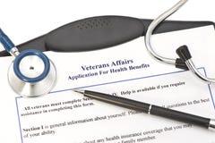 Pedido do VA para benefícios Foto de Stock Royalty Free