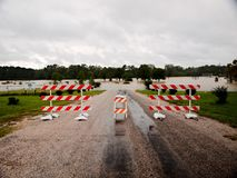 Pedigo Park Closed Livingston Texas Flooding Hurricane Harvey. Flooding in Livingston, Texas after hurricane harvey Royalty Free Stock Photos