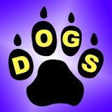 Pedigrí de Paw Means Pets Pup And de los perros ilustración del vector